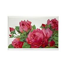 cut roses flip Rectangle Magnet