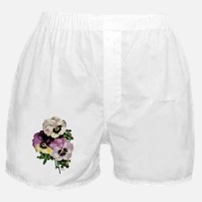 pansy water colourfinal signed3000 co Boxer Shorts