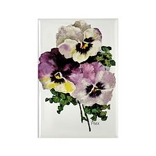 pansy water colourfinal signed300 Rectangle Magnet