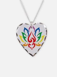 Autism-Lotus-Flower-blk Necklace
