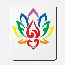 Autism-Lotus-Flower-blk Mousepad