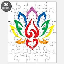 Autism-Lotus-Flower-blk Puzzle