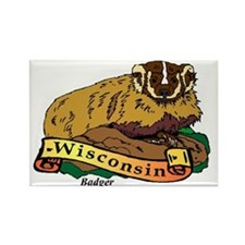 Wisconsin (4) Rectangle Magnet