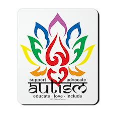 Autism-Lotus-Flower Mousepad