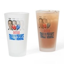 finally change obama gone Drinking Glass