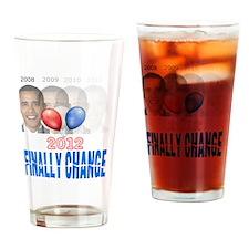 finally change obama gone Drinking Glass