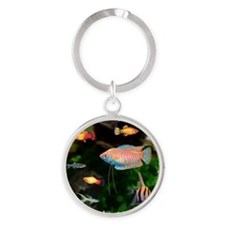 Tropical Fish Round Keychain