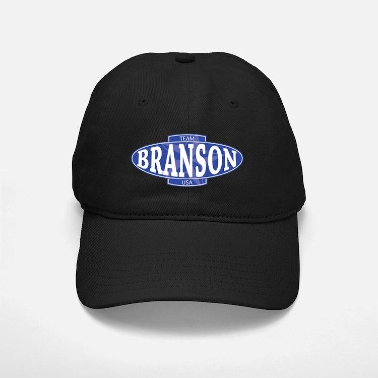 Team BRANSON Logo_USA_persian blue Baseball Hat