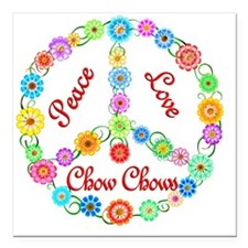 "chow Square Car Magnet 3"" x 3"""