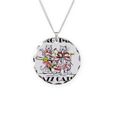 Jazz Cats in color Ragtime I Necklace Circle Charm