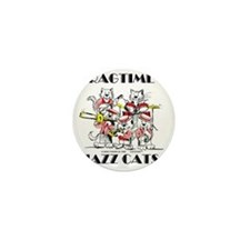 Jazz Cats in color Ragtime II Mini Button