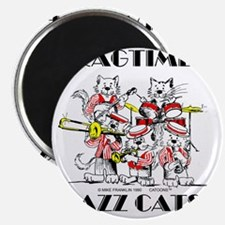 Jazz Cats in color Ragtime II Magnet