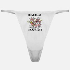 Jazz Cats in color Ragtime II Classic Thong