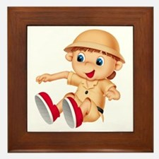 Safari Kid Framed Tile