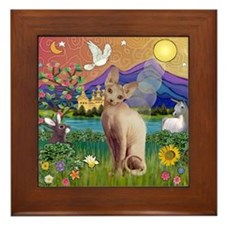 Fantasy Land Sphynx Cat Framed Tile