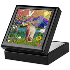 Fantasy Land Sphynx Cat Keepsake Box