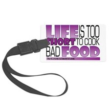 Life-is-too-short-Purple Luggage Tag