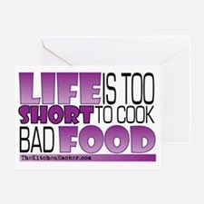 Life-is-too-short-Purple Greeting Card