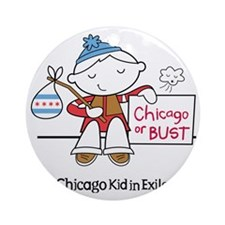 Chicago Kid In Exile (boy) Round Ornament
