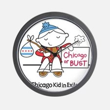 Chicago Kid In Exile (boy) Wall Clock