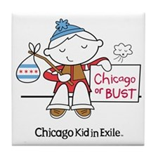 Chicago Kid In Exile (boy) Tile Coaster