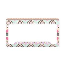 Girly Pastel Andes Abstract A License Plate Holder