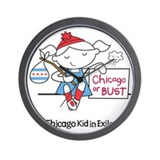 Chicago Kid In Exile (girl) Wall Clock