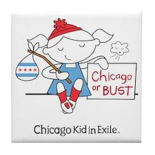 Chicago Kid In Exile (girl) Tile Coaster