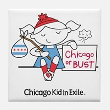 Chicago Kid In Exile (girl) Tile Coaster