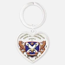 BandLogo_large Heart Keychain