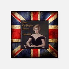 "Diana_the_peoples_Princess_ Square Sticker 3"" x 3"""