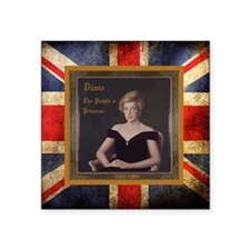 "Diana_the_peoples_Princess_ Square Sticker 3"" x 3"""