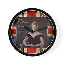 Diana_the_peoples_Princess_52x62 Wall Clock