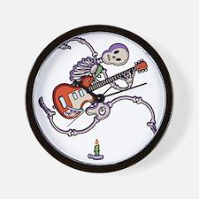 guit-skel-toony-T Wall Clock