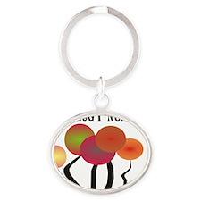 Oncology Nurse Orange Trees Oval Keychain