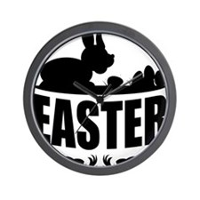 EasterSilhouette Wall Clock
