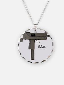 imac grey txt Necklace