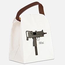 imac grey txt Canvas Lunch Bag