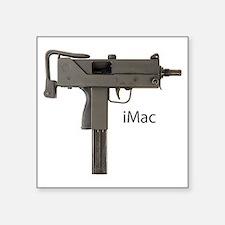 """imac grey txt Square Sticker 3"""" x 3"""""""