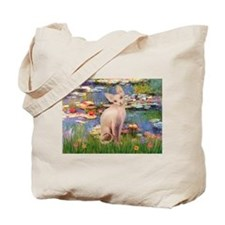 Sphynx cat and lilies. Tote Bag