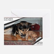 GSD-Chi-smell sweeter Greeting Card