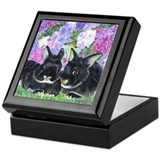 Silver marten rabbits Keepsake Boxes