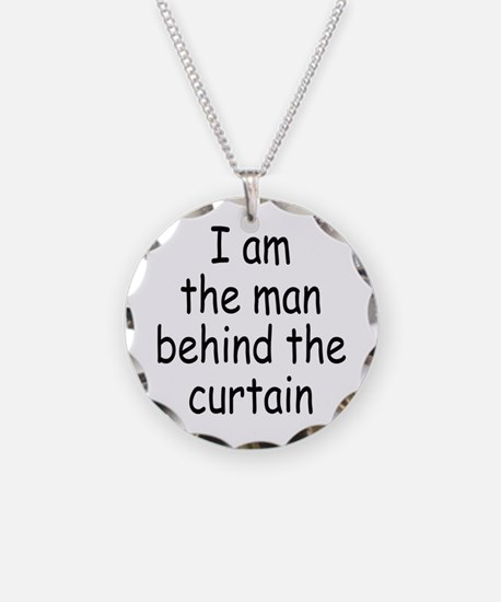 the man behind the curtain Necklace Circle Charm