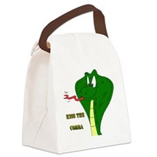 Kiss the Cobra Canvas Lunch Bag