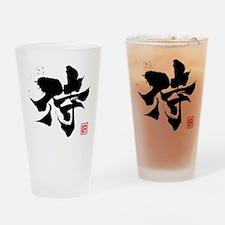 samurai kanji asian japanese chines Drinking Glass