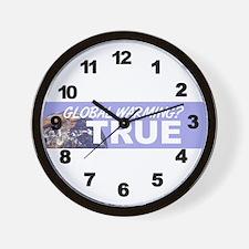 Global Warming? TRUE Wall Clock