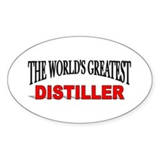 """The World's Greatest Distiller"" Oval Decal"