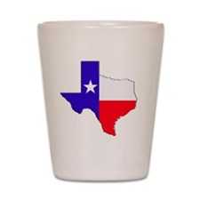 Texas Flag State Shot Glass