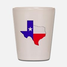 Texas Flag State Shot Glass