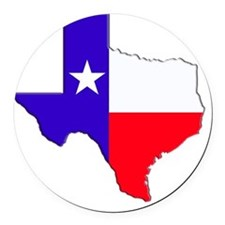 Texas Flag State Round Car Magnet